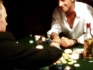 Xxx poker videos - Dirty whore gets gangbanged on a poker table by three fuckers