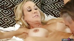 Cheating housewife with big boobs almost get caught