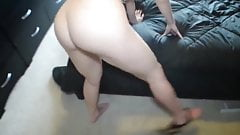 Big Titty and Bubble Butt Milf Blowing Son's Best Friend