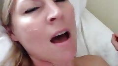 Hotwife films herself fucking & swallowing young cum