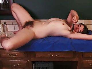 Erotic masterbation stoies - Hairy pussy, hairy nipples, hairy ass babe masterbates