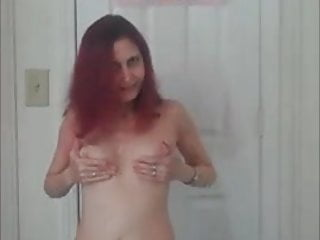 Pigtail redhead see through - Rehot redhead show flashing in the see-through dress
