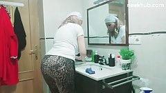 arab  sexy granny big ass at home
