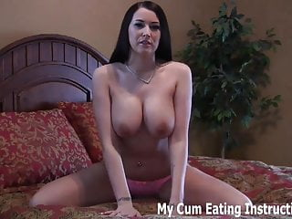 I want to swallow some spunk I want to see you swallow your own cum cei