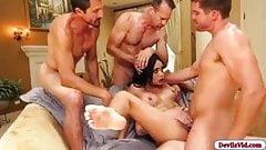 Aaliyah Hadid gangbang