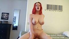 Morning sex with my redhead girlfriend slut