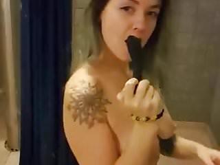 Sex strip videos Woman strips and masturbates in public shower