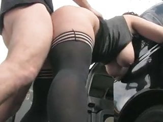 Hairy dog dumbest Dogging outdoor for a hairy pussy bbw