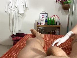 Big hands big dick 4 hands for waxing a big dick
