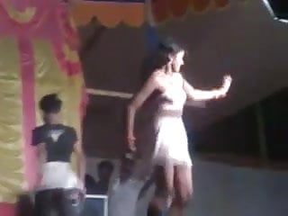 Private strip dance - Indian girl strip dance show in public