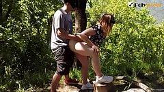 PUBLIC SEX ON THE MOUNTAIN, CUNNILINGUS + CUM KISS