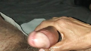 My horny wife give me a handjob