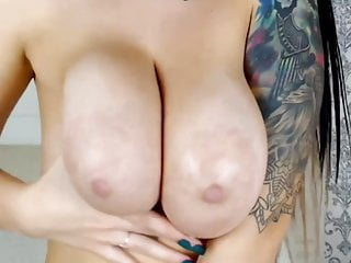 Soft sexy pantyhose - Big soft sexy hanging spit on tits on tat girl