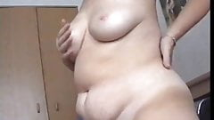 Squeezed tits and twitching body