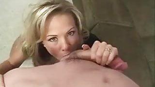 Hot Sexy Blonde MILF fucks and Sucks