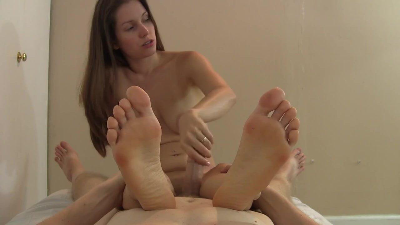 Face feet handjob in Foot worship