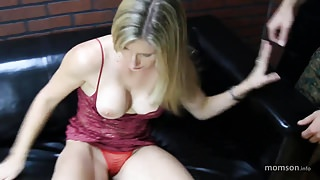 son fuck not   step mom on bed and cum inside