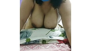 Tired by fucking, Saavi managed a last fuck of the day on cam
