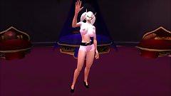 WowGirlX - Sexy Barbie blud Elf Strip-Tease