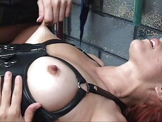 Blond leggings corset thumbs Corseted gartered c-cup bdsm redhead spreads her legs for brunettes strap-on