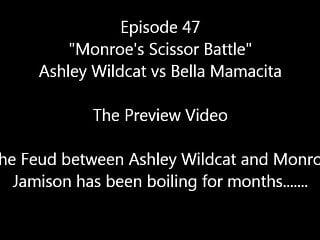 Female wrestling naked - 47 monroes scissor battle ashley vs bella female wrestling