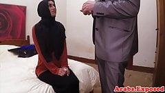 Arabic muslim riding cowgirl while in hijab
