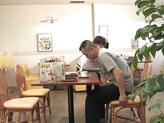 Waitress sucking costomers cock - Waitress whore offers to suck the clients hard cock