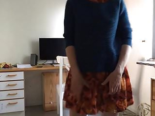 Hairy skirt galleries No panties and hairy pussy under skirt very short