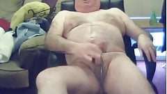 Hot daddy in pink mankini getting fucked with dildo