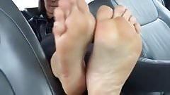 Milf shows her hot wide soles