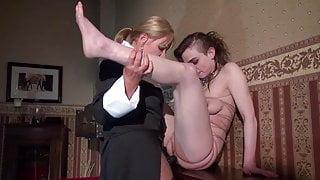 Lezdom - Strapon and Wax Torture