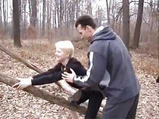 Public outdoor fucking - Blonde outdoor fucking