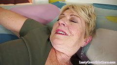 Chubby granny pounded on her back