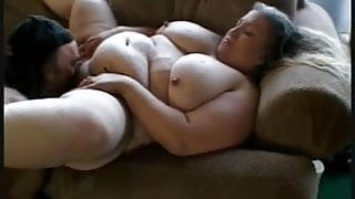 BBW woman with big tits during hardcore sex