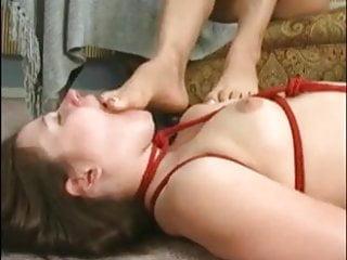 Bdsm porn lesbian slave - Lesbian slave girl worshipping her mistresss body