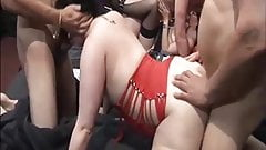Amateur UK babes swingers gangbang party