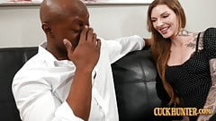 Redhead Penny Archer Takes Big Black Cock - Hubby Watches