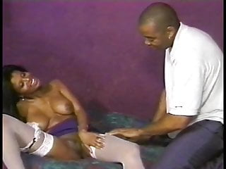Vintage quinceanera dresses Hot ebony in purple dress sucks and takes black dick in bed