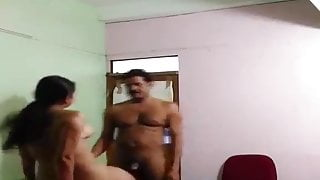 Desi cheating couple getting kissed and fucked