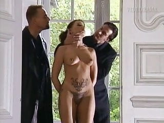 Slut taking big Pierced and tattooed slut taking it up her ass and pussy