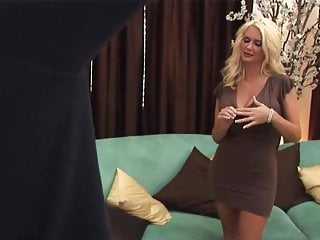 Free milf in heels Sexy blonde milf in heels takes a facial