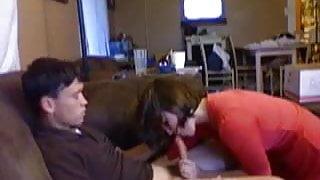 Amateur couple on webcam