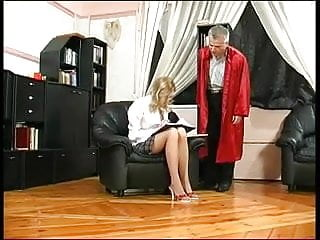 Learning channel sex camera Blonde schoolgirl learns sex with not her granpa teacher