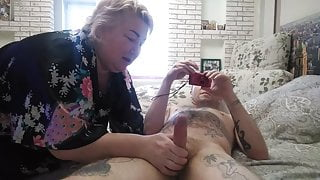 mother-in-law brings me to ecstasy by sucking my cock