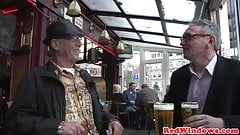 Euro hooker sucks oldmans cock before riding