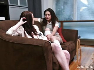 Teen lesbian eat out - Horny mormon girls eats each other out