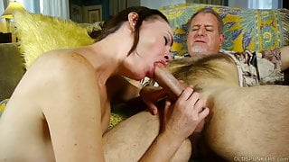 Super sexy slim old spunker loves fucking and facials