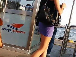 A nice ass in a skirt - Nice ass in mini-skirt