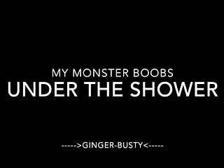 Boob exam scam ginger lee - Ginger busty monster boobs under the shower