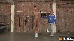 Sebastian likes to stroke hanged Reece dick till he cums